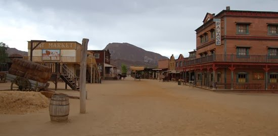 Carlo Simi built the El Paso set, which still stands in the Tabernas Desert