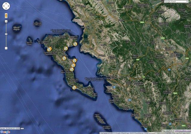 Corfu location map