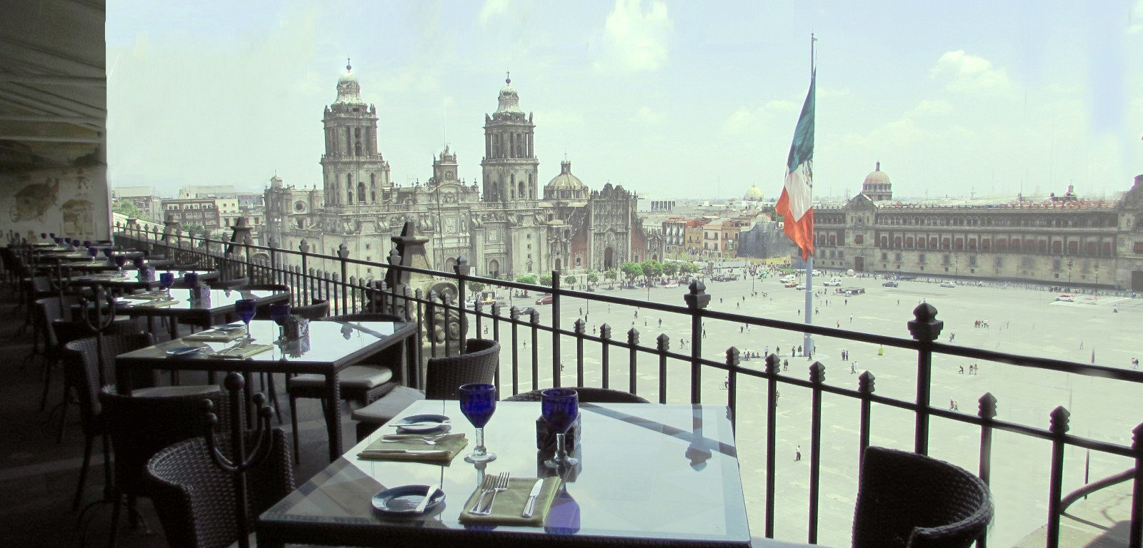 View from the hotel on to the Zocalo