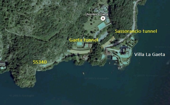 Location of Villa La Gaeta @ Lake Como