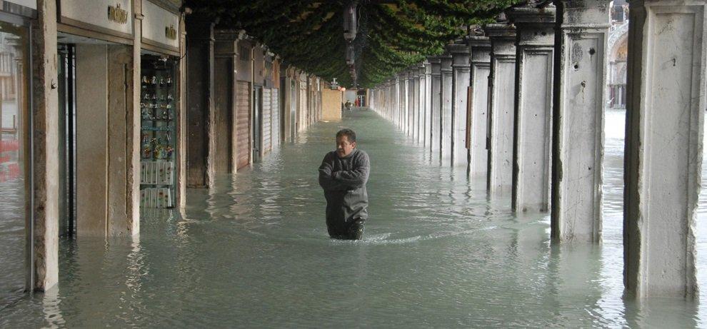 Acqua Alta, or high water, occurs regularly in Venice