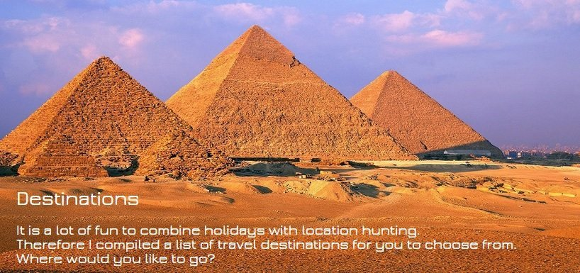 Destinations: Where would you like to go to?