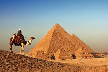 The pyramids of Gizeh, Egypt