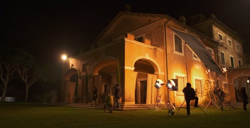 Villa di Fiorano during the filming of SPECTRE