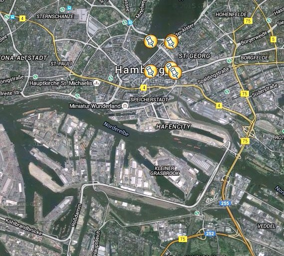 Hamburg location map