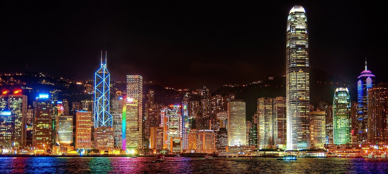 The colourful skyline of Hong Kong island is something you will never forget