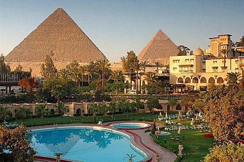 Mena House Hotel, next to Giza's famous pyramids
