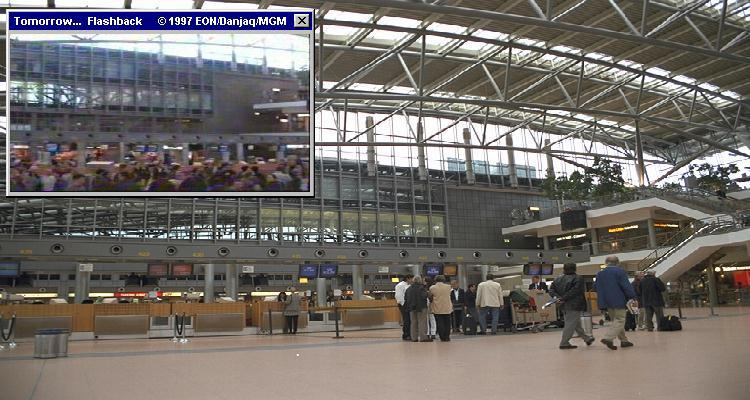 Hamburg's Fuhlsbuttel Airport is where 007 arrived in Tomorrow Never Dies (1997)