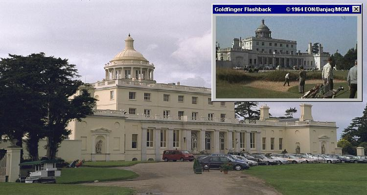 The front of Stoke Park, as seen in Goldfinger (1964)