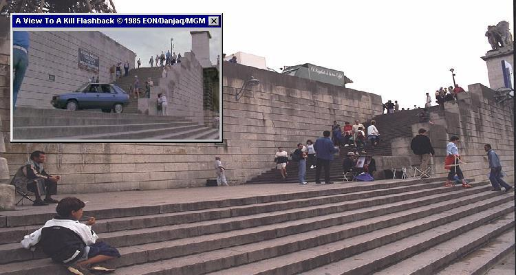 Inside Paris you can easily track down the Renault car chase route from A View To A Kill (1985)