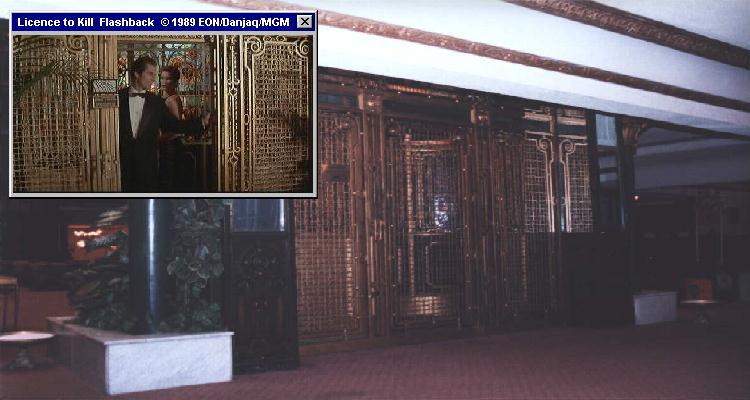 The elegant elevator featured in Licence To Kill (1989)