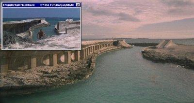 The Thunderball breakwater at the Atlantis Resort