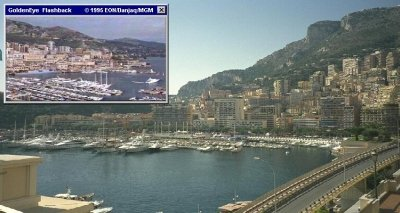 Monaco was used in GoldenEye (1995), featuring Pierce Brosnan