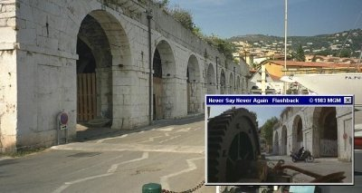 The tiny town of Villefranche Sûr Mer, as seen in 1983's Never Say Never Again