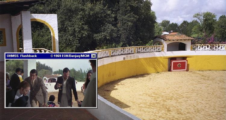 Herdade do Zambujal, location of Draco's birthday party and Bond's wedding in OHMSS (1969)