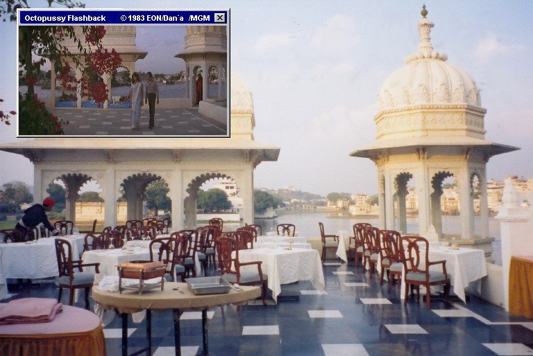 Dinner at the terrace of the Lake Palace Udaipur