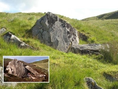 Probably the most sought after rock of Kilmichael Glen, used by 007 to hide for the helicopter in From Russia With Love (1963)