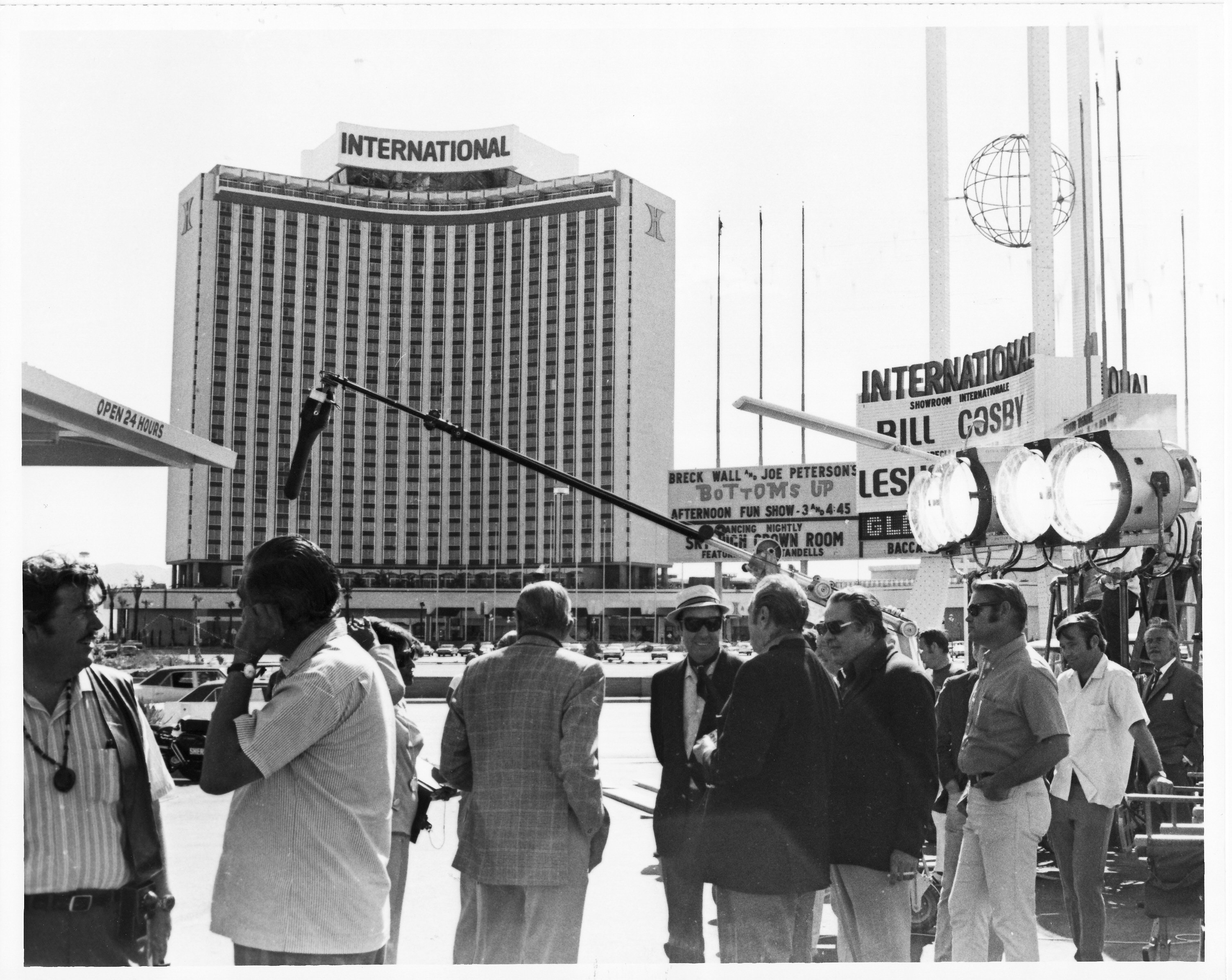 The WEstgate was still the INternational during the filming of Diamonds Are Forever (photo © The Sun)