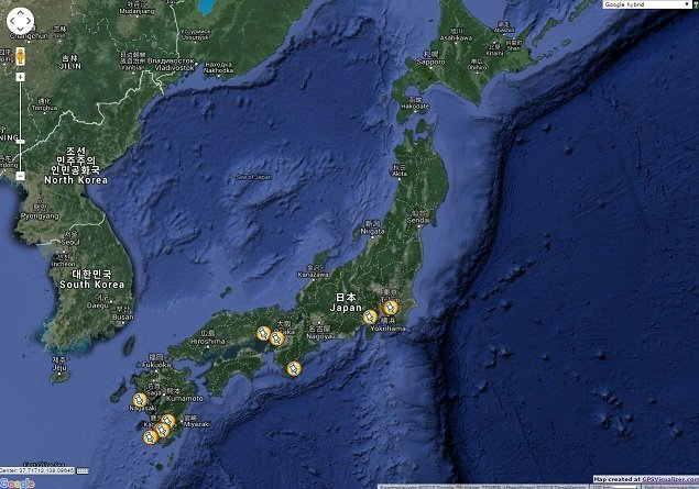 Japan location map