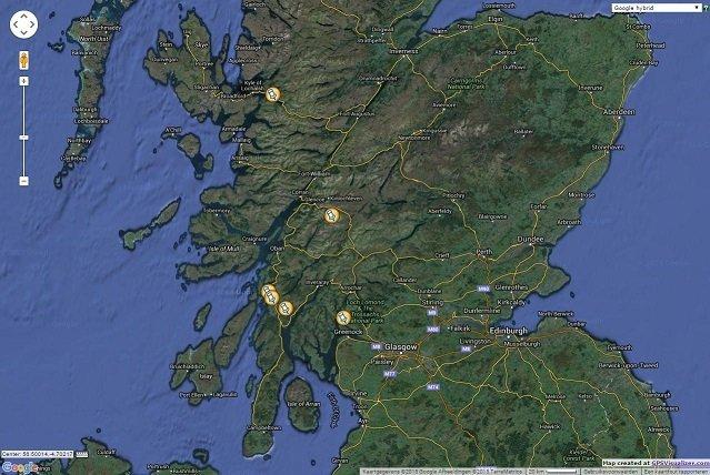Scotland location map