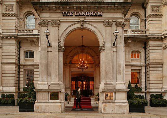 The Langham Hotel entrance