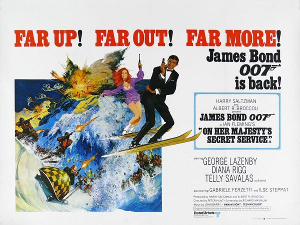 On Her Majesty's Secret Service (1969) - poster