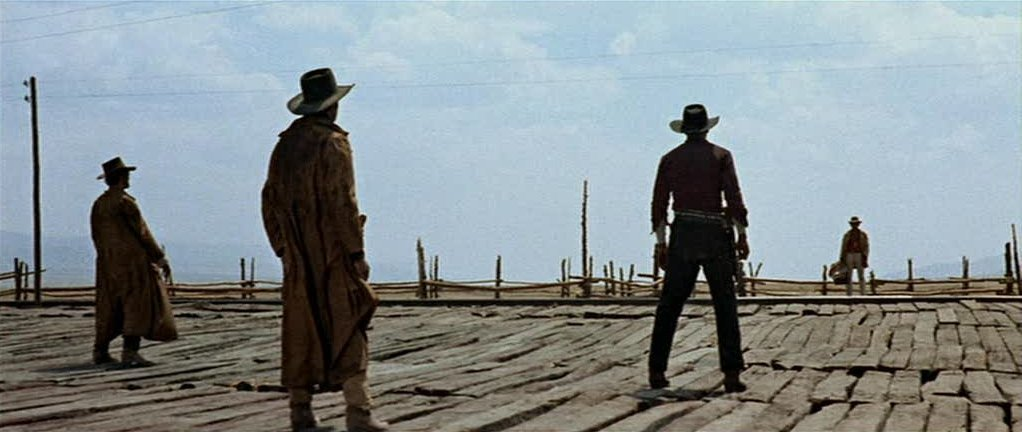 The famous opening scene of Once Upon A Time In The West