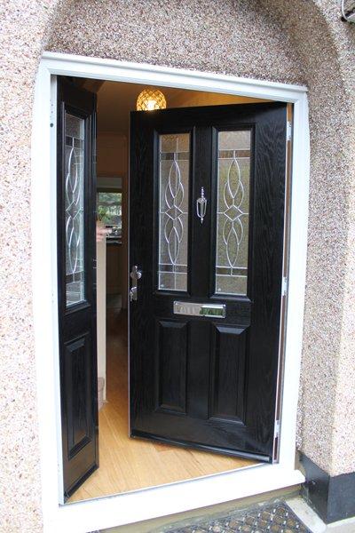 Black front door in Rayners Lane