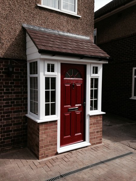 Harrow porch and composite door