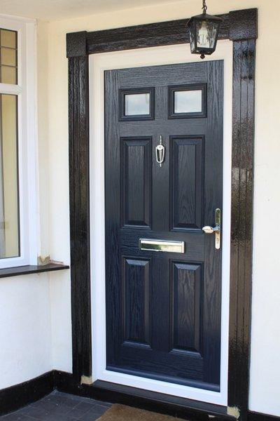 Blue composite door in Ruislip