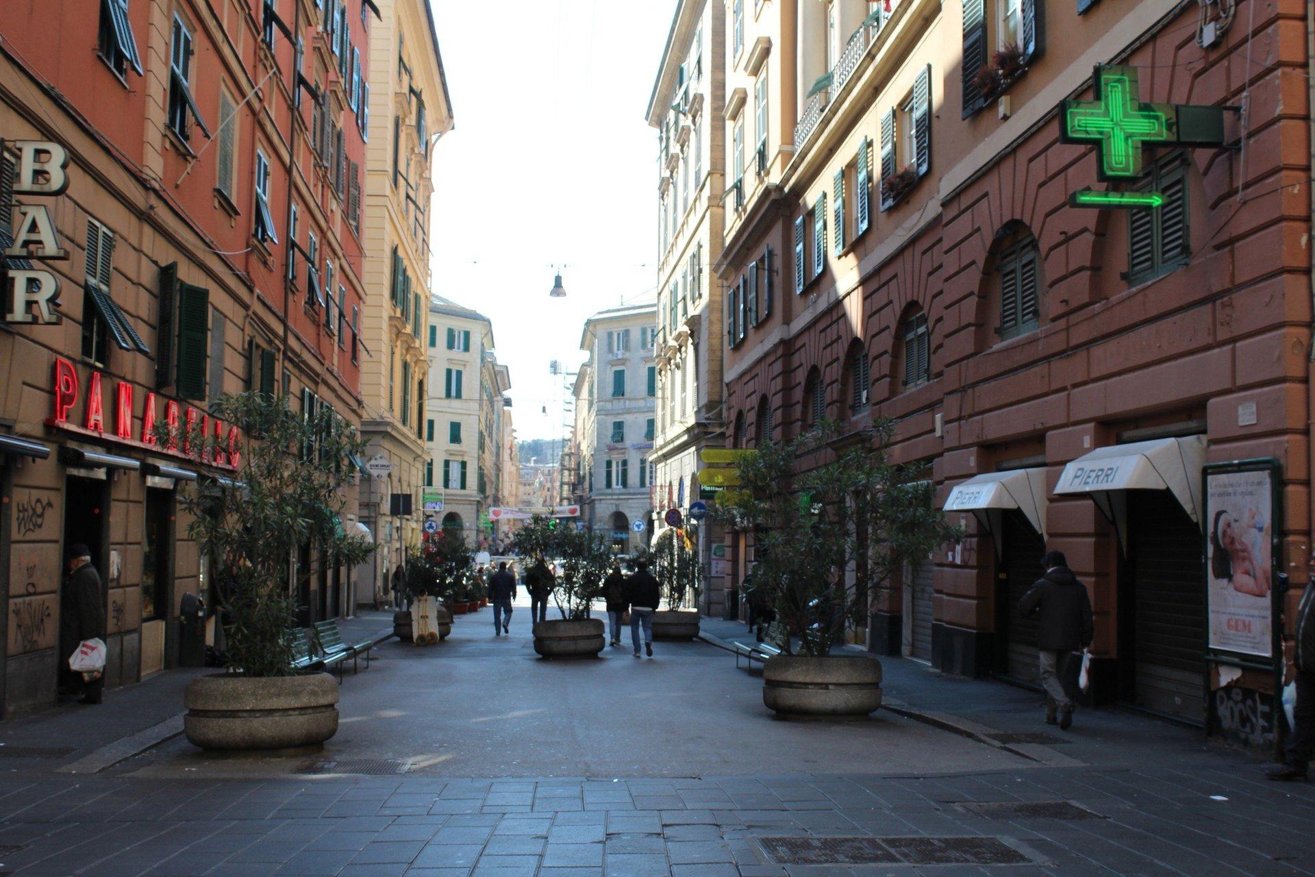 Una strada di Genova