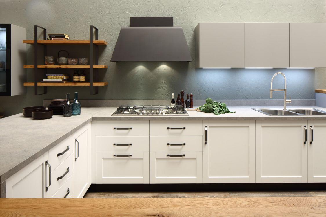 Piano cottura e di lavoro di una cucina