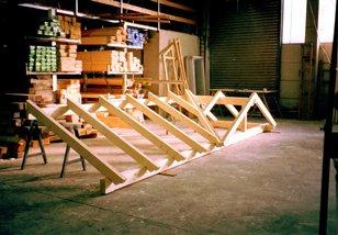 Überdachung in Werkstatt in Garching