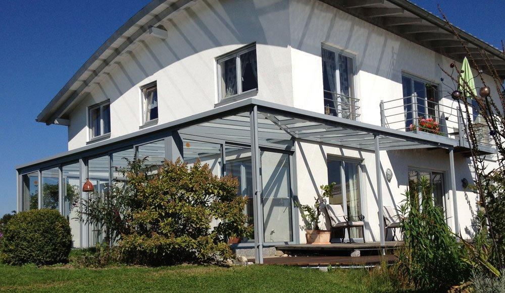 Überdachung einer Terrasse