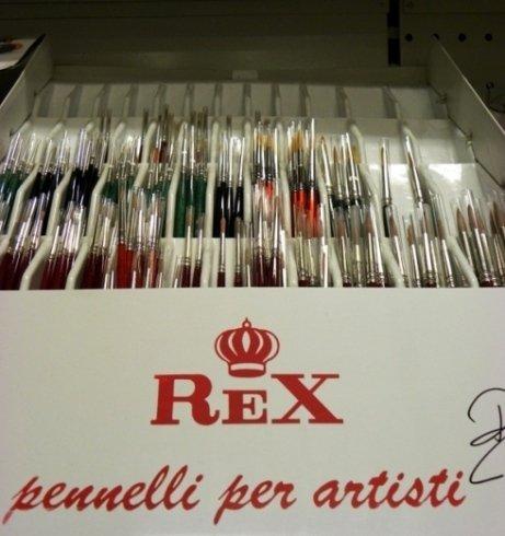 Il negozio si occupa della vendita di pennelli per artisti