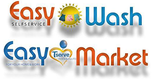 EASY WASH LAVANDERIA SELF SERVICE e EASY MARKET - LOGO