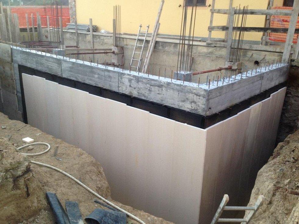 copertura isolante parete interrata
