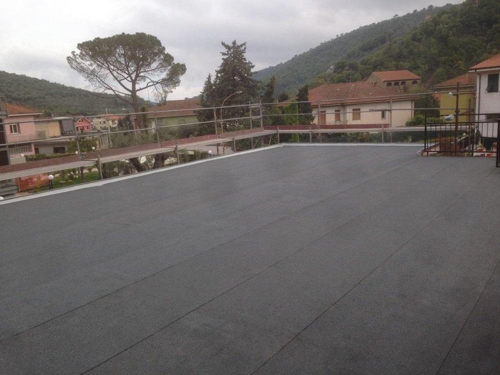 manto impermeabile ardesiato grigio Casa di Riposo a Pontedassio