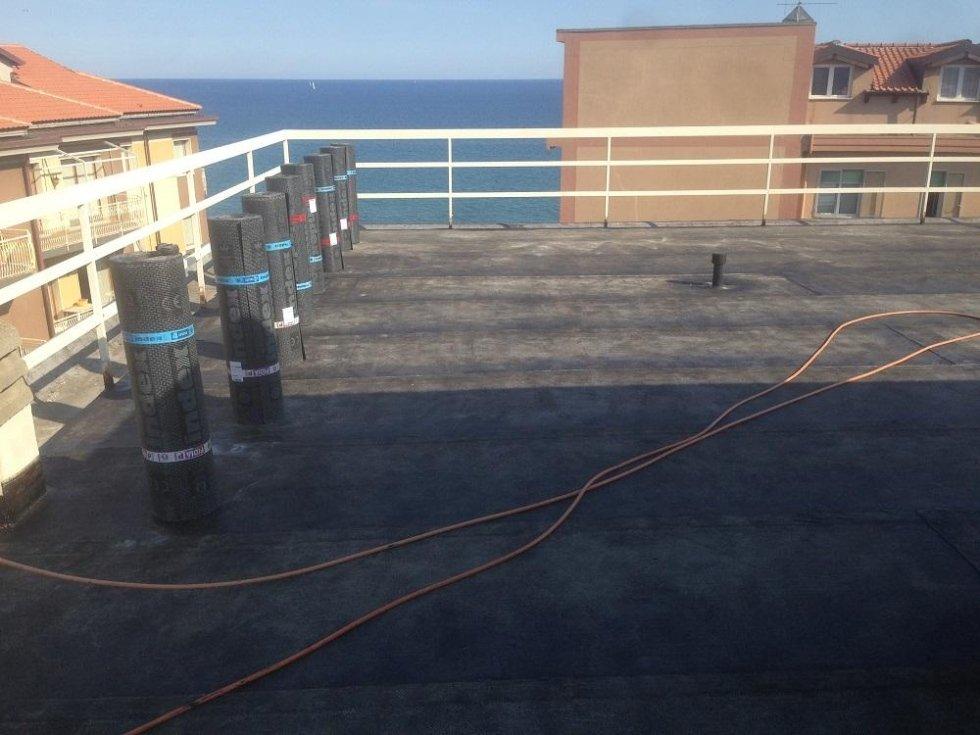saldatura guaine impermeabili Condominio Melodia del mare Andora