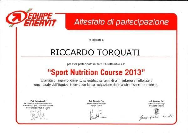 Corso in Sport nutrition
