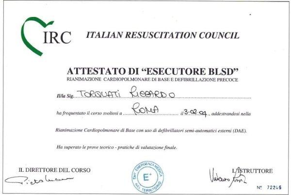 BLSD Performer certificate