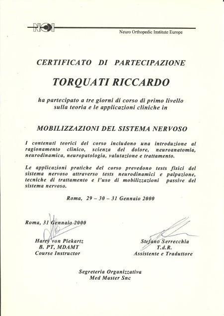 Mobilisation Certificate
