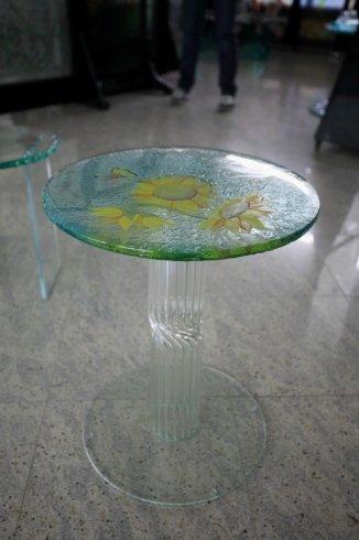 decorazioni in vetro, decorazioni per tavoli in vetro