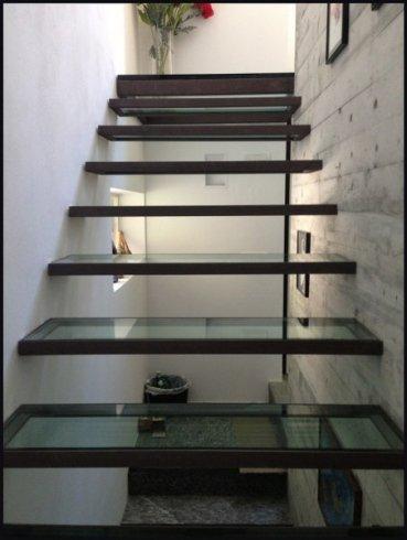 scalini in vetro, vetrate artistiche