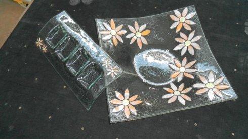 vetrate artistiche, lastre di vetro decorato