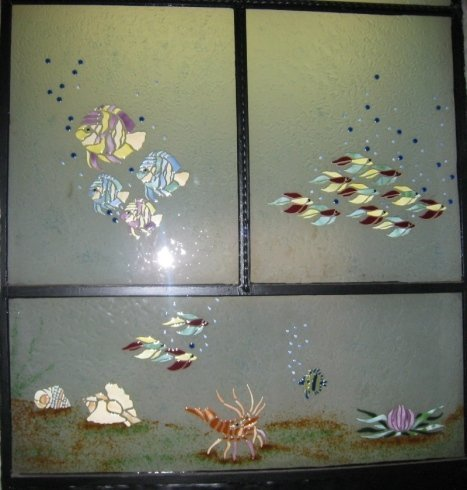 immagini in vetro, incisioni su vetro