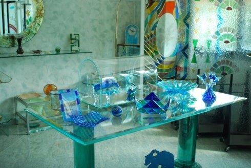 oggetti in cristallo, articoli in cristallo colorato