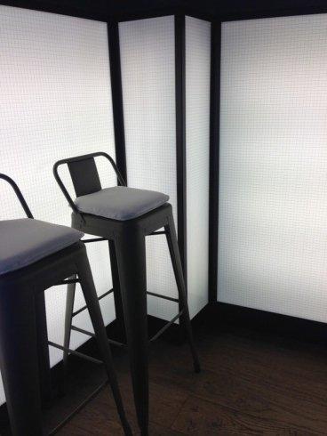 arredamento bar, lampade in vetro per bar