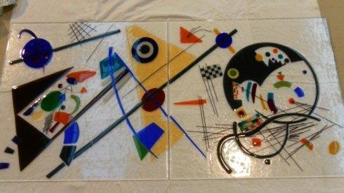 specchi in vetro colorato, decorazioni su vetri