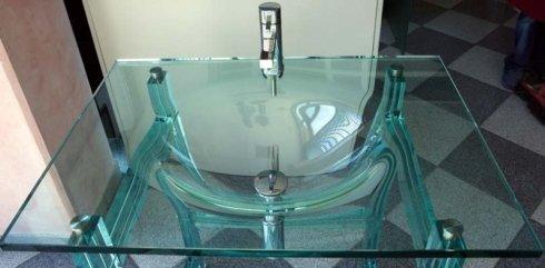 tavolino da salotto in cristallo, tavolino in vetro